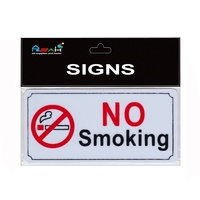 Miniture No Smoking Sign Plastic Black / White / Red 8x4cm MQ-280