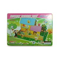 Kids 3D Super Puzzle Rabbit Hut House, Educational and Fun, MQ010