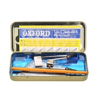 Oxford Maths Set Geometry Mathematics Instruments Set in Tin Protective Casing
