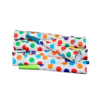 12pce Colour Polka Dots Theme Party Blow Horns 20cm for Birthday Parties