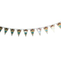 Birthday Cake 2m Party Bunting Flags Paper with Quality Stitched Joinings MQ311