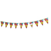 Happy Birthday 2m Party Bunting Flags Paper with Quality Stitched Joinings MQ311