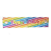 Rainbow Theme Party Banner 100x30cm Sign Great for Happy Birthday Parties