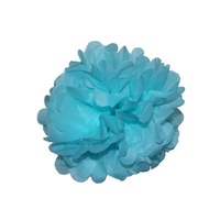12pce 30cm Aqua Blue Tissue Paper Pompom for Weddings, Birthday, Xmas Events