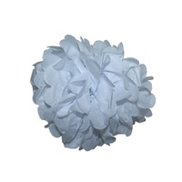 6pce 30cm White Tissue Paper Pompom for Weddings, Birthday, Xmas Events