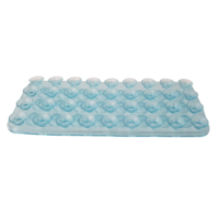 1pce Blue 19cm Wall/Drawer Suction Grip Mat Sheet Kitchen/Home Organisation Furniture Stop