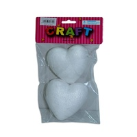 10 Foam Polystyrene Love Hearts 7x7cm for Craft, Christmas Decoration, Romance
