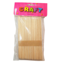 Tan/Natural Paddle Pop Sticks Pack 48 Pack 2x15cm Long Craft/School Supplies