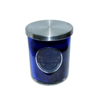10cm Scented Candle in Glass Jar w/ Stainless Steel Lid Lavender & Sage MQ-548