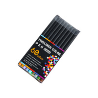 60pce 0.4mm Fineliner Pens Fine Tip Excellent Quality Sketching and Drawing