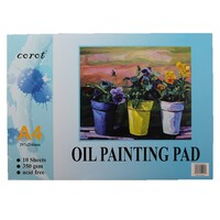 Quality A4 Oil Painting Pad 350GSM 10 Sheets Acid Free