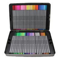 48 Colour Fine Liner Marker Pen Drawing Set in Metal Tin Premium Excellent Range
