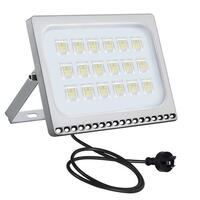 1pce LED Flood Light Lamp 100W (220V-240V) AU Plug Cold White Colour Hangable Durable Metal Frame