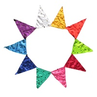 200cm x 30cm Sequin Flower Colourful Bunting Flag Hanger, Great for Home, Kids Rooms