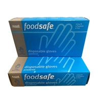 BULK LOT 200pce Ansell Large Disposable Powered Vinyl Gloves Food Safe Easy Fit