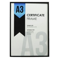 A3 Certificate Frame Business Black with Glass