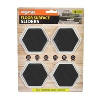4pce x Pack of Furniture Sliders - 8.5cm Hexagon. Moving Heavy Objects.Made Easy