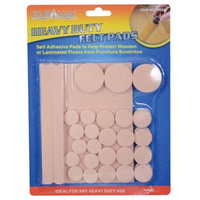 38 Piece Self Adhesive Felt Pads Cream Assorted Sizes