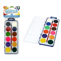 1pce Kids Painting Set w/ Brush 12 Colours Art & Craft Intro Hobby in Case