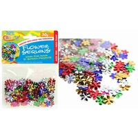 1 pack craft Flower Sequins 30g multi colours, scrapbooking, craft, party