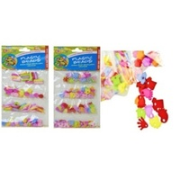 2 X 40g Packs of Plastic Beads 8 Assorted Designs 1-2cm