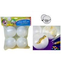 4pce Craft Foam Balls - 9cm, Great for Craft and Scrapbooking, Excellent Mould