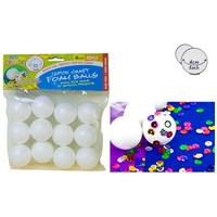 12pce Craft Foam Balls - 4cm, Great for Craft and Scrapbooking, Excellent Mould