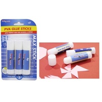 2 x 3pce PVA Glue Sticks 8g Each Non Toxic for Scrapbooking & School Projects