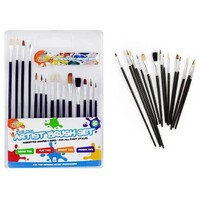 15pce Artist Paint Brush Set - Asst Sizes