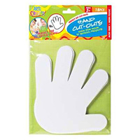 18pce, 16cm Hand Cut-Outs, Ideal for Home or School Projects, Acid Free DYI