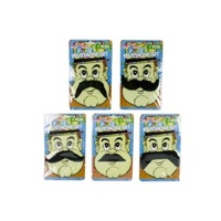 5pce Dress Up Moustaches in 5 Assorted Styles