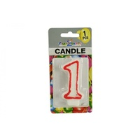 "Number ""1"" Birthday Candle. 7.5cm High. Excellent for Parties."