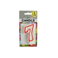 "Number ""7"" Birthday Candle. 7.5cm High. Excellent for Parties."