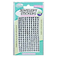 180pce Adhesive Rhinestones - Silver 5mm, Scrapbooking Art & Craft Card Making