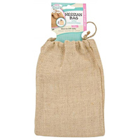1pce Hessian Bag with Draw String 23cm x 16cm for Craft or Gift