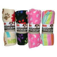 1pcE Polar Fleece Pet Blanket 70x100cm Winter and All Seasons Funky Colours