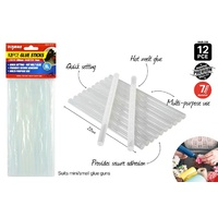12pce Glue Sticks - 200mm Extra Long - Clear (for small gun)