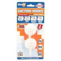 New 2pce Small Suction Hook 5x3.5cm Holds 1kg Suitable For Photos/Frames
