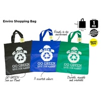1pce Enviro Friendly Shopping Bag 35x37x19cm Reusable Washabale Durable