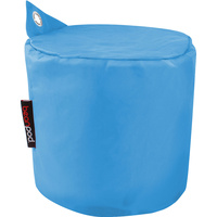 New 1pce Bean Pod Pop Round Blue Seat Cushion Foot Rest Camp Cover 50x40cm