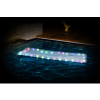 AIR MATTRESS W/LED LIGHTS AQUA PARTY 183CM x 76CM