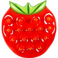 GIANT STRAWBERRY AIR LOUNGE 145X137X21CM DEFLATED SIZE