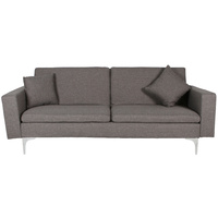 New 1pce 3 Seater Sofa Bed Lounge Grey Linen Design Couch Multi Function Room