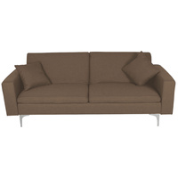 New 1pce 3 Seater Sofa Bed Lounge Brown Linen Design Couch Multi Function Room