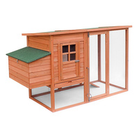 New 1pce Chicken Coop Rabbit Hutch Large Caged Wooden Outdoor Home Pet Kennel
