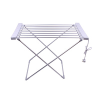 New 1pce 240V Clothes Line Drying Rack Heated 8 Rails Stand 95X54X74CM Foldup