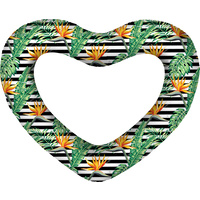 GIANT HEART SWIM RING BIRD OF PARADISE DEFLATED SIZE: 160CM