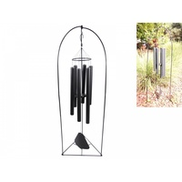 Jumbo 137cm Black Tuned Classical Windchime STAND NOT INCLUDED Outdoor Piece 6 Tubes