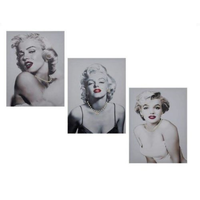 40 x 30cm Marilyn Monroe Canvas Print with Jewels/Bling/Red Lips/Black Singlet