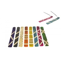 1pce 25cm Inlay Wooden Incense Holder in 8 Assorted Colours to Choose From